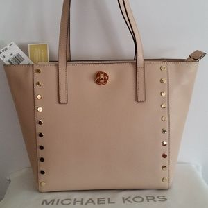 Michael Kors Rivington Stud MD Tote Leather Ballet